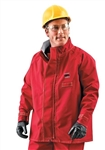 Ansell 66-660-L Sawyer-Tower CPC Polyester Trilaminate Jacket - Red, Large