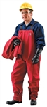 Ansell 66-662-M Sawyer-Tower CPC Polyester Trilaminate Bib Overall - Red, Medium