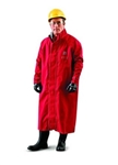 "Ansell 66-663-L Sawyer-Tower CPC Polyester Trilaminate 49"" Coat - Red, Large"