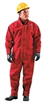 Ansell 66-667-L Sawyer-Tower CPC Polyester Chemical Splash Coverall - Red, Large