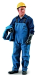 Ansell 66-672-M Sawyer-Tower CPC NOMEX Trilaminate, Gore Fabric Overalls - Blue, Medium