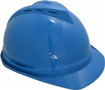 MSA 10034019 V-Gard 500 Cap Blue Vented - 4-Point Fas-Trac III