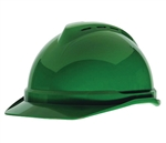 MSA 10034023 V-Gard 500 Cap Green Vented - 4-Point Fas-Trac III