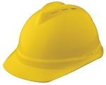 MSA 10034029 V-Gard 500 Cap Yellow Vented - 6-Point Fas-Trac III