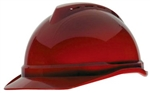 MSA 10034031 V-Gard 500 Cap Red Vented - 6-Point Fas-Trac III