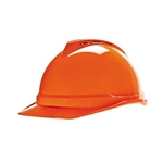MSA 10034035 V-Gard 500 Cap w/ 6-Point Fas-Trac Suspension, Hi-Vis Orange