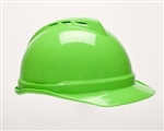 MSA 10035212 V-Gard 500 Cap Lime Green Vented - 4-Point Fas-Trac III