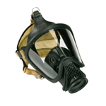 MSA 10052781 Ultra Elite CBRN Hycar Gas Mask with rubber Head Harness, Medium