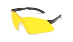 Gateway 14Gb75 Safety Glasses, Hawk Black Frame Amber Lens