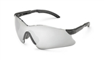 Gateway 14Gb8M Safety Glasses, Hawk Black Temple Silver Mirror