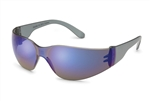 Gateway 469M Starlite Safety Glasses Grey Temple Blue Mirror Lens