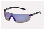 Gateway 449M Starlite Safety Glasses SQUARED Gray Frame/Blue Mirror Len