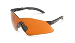 Gateway 14Gb69 Hawk Safety Glasses Black Frame/Blu Fltr Lens 1/Ea