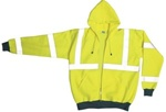 Occunomix Lux-Swt3Hz-Yl Sweatshirt Zip Front, Hooded Yellow
