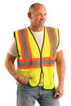 Occunomix Eco-Gc2T-Yl/Xl Class 2 Vest Lrg/Xl Yellow