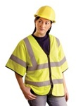 Occunomix Eco-Gcz3-Y-L/Xl Occlx Economy Mesh Vest H/Slv L/Xl Yellow