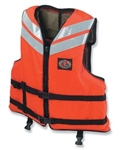 Stearns I460Org-05-000 Work Boat Vest Nylon Orange Xlarge
