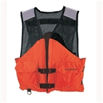 Stearns I424Org-05-000 Work Zone Fish Vest Nylon & Mesh Orange Xl