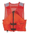 Stearns I424Org-02-Ans Work Zone Fish Vest Nylon & Mesh Orng Sm