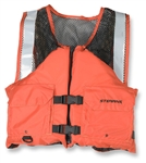 Stearns I424Org-04-Ans Work Zone Fish Vest Nylon & Mesh Orng Lg