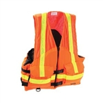 Stearns I424Org-05-Ans Work Zone Fish Vest Nylon & Mesh Orng Xl