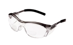 3M 11435-00000-20 Nuvosafety Gray W/Clear Lens +2.00