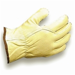 Ammex 501 Grain Leather Driver Gloves 12 pair/package; 10 packs/case