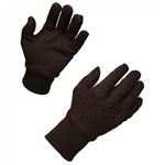 Ammex BJ Brown Jersey Knit Gloves 12 pair/package; 12 packs/case