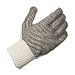 Ammex SKDPVC String Knit Gloves PVC Dots Double Sided 12 pair/package; 12 packs/case