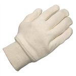Ammex WJ White Jersey Knit Gloves 12 pair/package; 12 packs/case