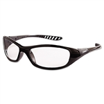 Jackson 3013851 Hellraiser Safety Glasses, Clear Lens, Black Frame