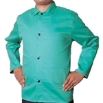 "Weldas 1770P-S 30"" Green FR Welding Jacket, Small 33-6630S"