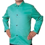 "Weldas 1770P-XXL 30"" Green FR Welding Jacket, 2X-Large 33-6630XXL"