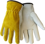 Tillman 1416-M Top Grain/Split Cowhide Drivers Gloves, Medium, 1 Pair