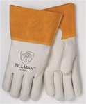 "Tillman 1350-L Mig Welding Gloves, Top Grain, 4"" Cuff, Size Large"