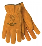 Tillman 1405-L Cowhide Split, Unlined, Drivers Gloves, Size Large