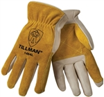 Tillman 1464-M Top Grain Cowhide Leather Drivers Gloves, Medium, 1 Pair