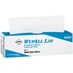 Kimberly Clark 05800 WypAll L30 Wipers, Pop-Up Box, 8 Boxes/100 ea