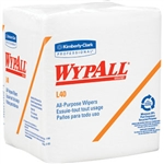 Kimberly Clark 05812 WypAll L30 Wipers, 1/4-Fold, 12 Packs/90 ea