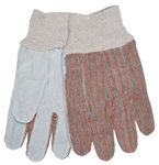 MCR Safety 1030 Memphis Industry Standard Leather Palm Gloves, Clute Pattern, Knit Wrist