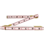 Apex 1066D Lufkin Red End Engineer's Folding Wood Rule (Feet)