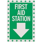 "Brooks 1144LLFS ""First Aid"", Self-Adhesive, Vinyl, 8"" x 12"""