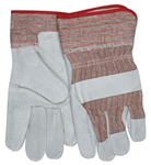 "MCR Safety 1200S Memphis Industry Standard Leather Palm Gloves, Industrial Grade, 2 1/2"" Starched Cuffs, Large"