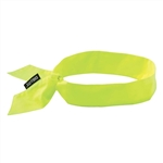 Ergodyne 12301 Chill-Its 6700 Cooling Bandanas, Tie Closure, Lime
