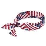 Ergodyne 12303 Chill-Its 6700 Bandana, Tie Closure, Stars/Stripes