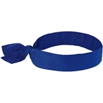 Ergodyne 12307 Chill-Its 6700 Bandana, Tie Closure, Solid Blue