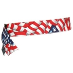 Ergodyne 12313 Chill-Its 6705 Bandana, Hook & Loop, Stars/Stripes