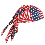 Ergodyne 12323 Chill-Its 6710 Triangle Hat, Tie Closure, Stars & Stripes