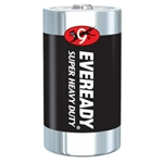 "Energizer 1250 Eveready Super Heavy Duty ""D"" Batteries"