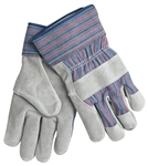 "MCR Safety 1300 Memphis Select Shoulder Leather Palm Gloves, ""B"" Grade, Rubberized Cuffs, Large"